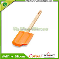 Wood handle silicone butter spread knife
