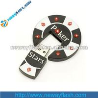 1G 2G 4G 8G OEM Gift Poker Chip USB Flash Drive