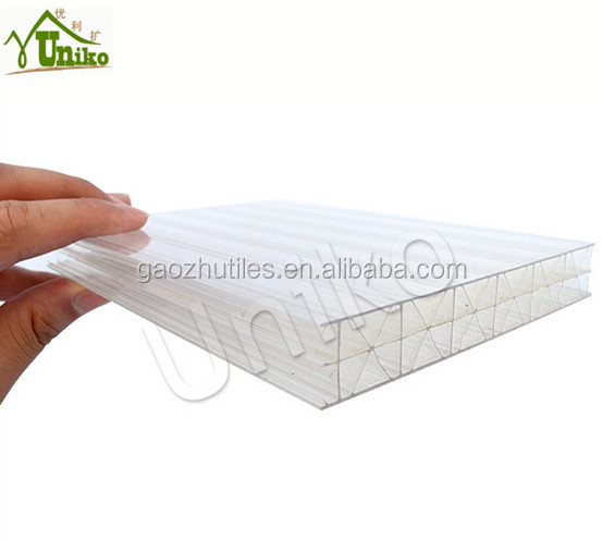 20 mm 5 walls x-structure polycarbonate hollow <strong>sheet</strong> used sandwich roof tiles clear hard plastic <strong>sheets</strong>