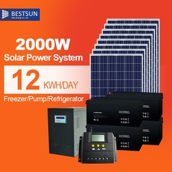 2000w solar battery gel 120ah or battery 300ah