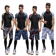 Men's Set <strong>sports</strong> shirt training basketball jersey suit Wear Reversible Basketball Clothes Suit Training Shirt+shorts+leggings