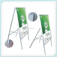 Single Side Aluminum Picture Frame Floor Stand