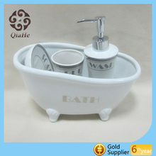 2016 New desigh Hot-sale ceramic and decal platinum bathroom set