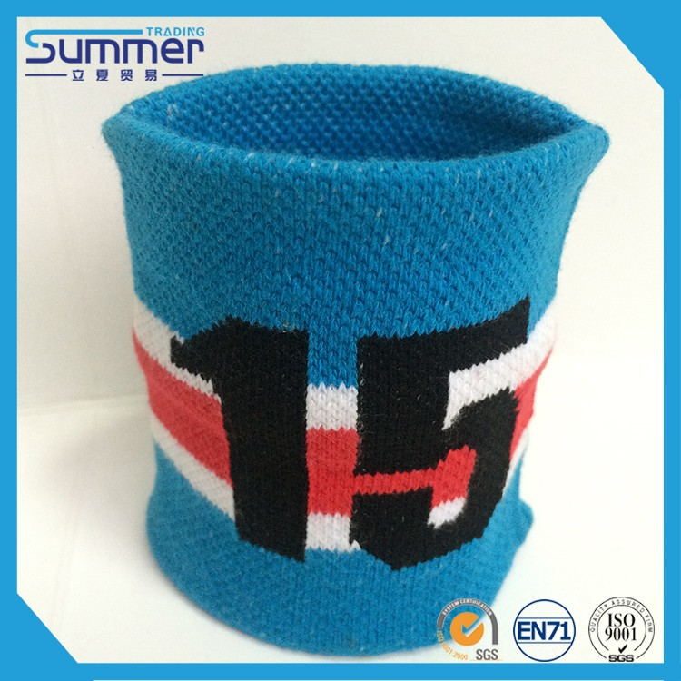 Multicolored cotton jacquard wristband