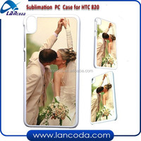 Lancoda new sublimation mobile phone cover for HTC 820 Case