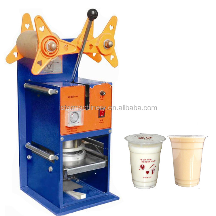 watsapp +86 15140601620 High efficiency plastic cup sealer machine