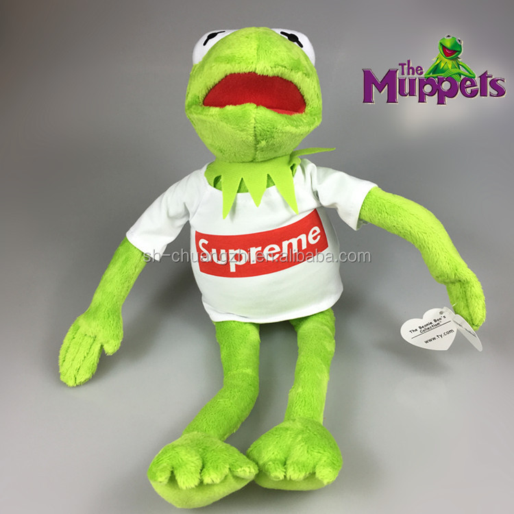 FAMA hot-selling China Wholesales factory super cute cuddly vivid superme Sesame Street stuffed plush frog Muppets Kermit toys