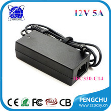 60w 12v ac to dc led lights driver/12 volt 5 amp industrial switching power supply/s-60-12 cctv smps