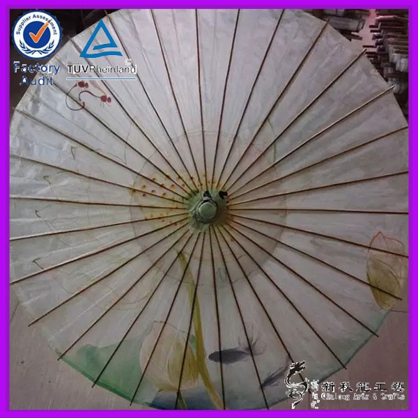 Goldfish pattern tradional Chinese style oiled paper umbrella customized