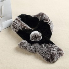 Best selling scarf shawl 2018 winter genuine knitted rabbit fur scarf fashion scarves