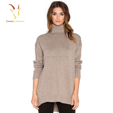 High neck Merino Wool Cashmere Wrap Sweater Sale