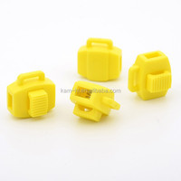 Hottest selling POM yellow elastic cord plastic stoppers