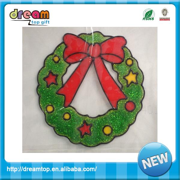 Removable eco-friendly pvc holiday decoration window gel stickers with great price