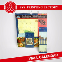 Paper table cardboard wall calendar