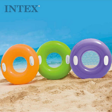 INTEX 59258 Summer Inflatable Colorful Swim Ring