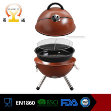 European style simple design portable stainless steel basketball charcoal vent barbecue grill