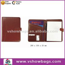 A4 business leather 2 pocket portfolio