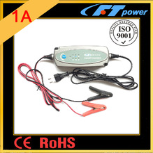 DC12V/1A/0.5A car motor boat smart battery charger,pulse/bulk/absorption/trickle/float/maintenance electronic charger