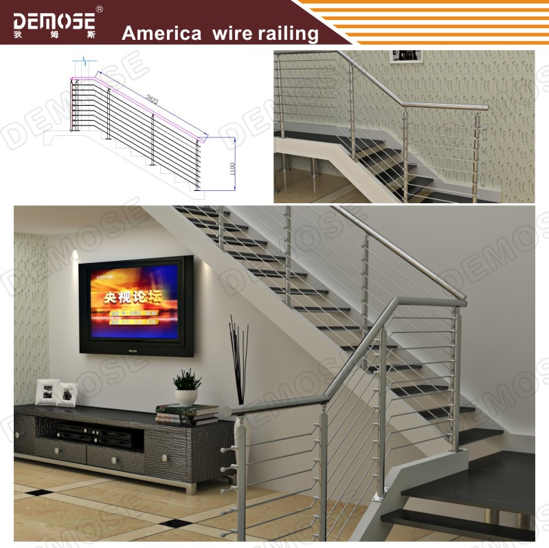 Modern Balcony Stainless Steel Window Grill Design, View