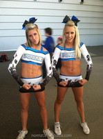 Factory sublimation crop top and shorts,ladies cheer top design uniform