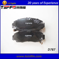 D787 hot selling China brake pad system factory for toyota car