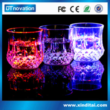 LED party drinking glass glow flashing Champagne Glass for Sale