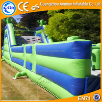 Large inflatable cactus deisgn obstacle course, cheap inflatable water obstacle course