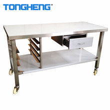 OEM non standard custom design kitchen equipment, stainless steel work table with drawer