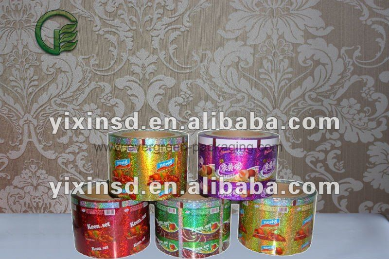 printed packaging films for cake noodles candy auto packing machine