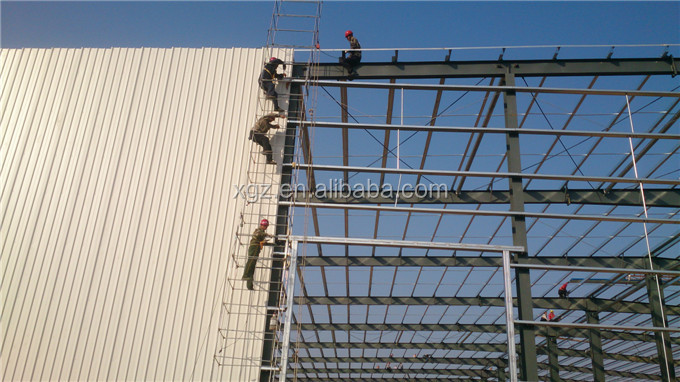 Durable light weight large span prefab warehouse building
