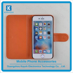 [kayoh] wholesale mobile phone case PU leather cover for iphone 6 plus filp stand case