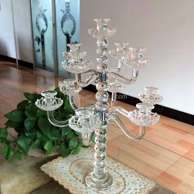 Cheap crystal candelabra for wedding table centerpieces