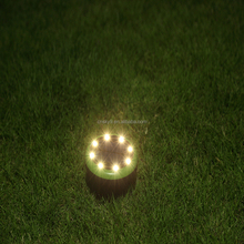 High brightness waterproof solar ground spot light with 8pcs SMD2835 leds for outdoor from factory
