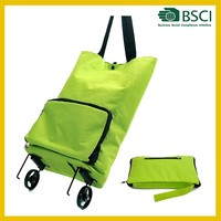 2015 best selling new high quality cheap folding shopping trolley bag with 2 wheels