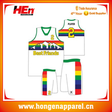 Wholesale Team Sublimated Custom Basketball Uniform