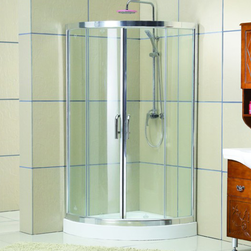 Wholesale luxury Easy clean glass aluminium alloy adjustable 4 sided shower enclosures KDS-D1070