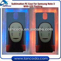 Sublimation LED Flashing Phone Cover for Samsung Galaxy Note 3