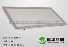Modern high power suspended/ceiling living room/showroom SMD led panel lights 54W