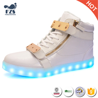 HFJH416 High top China produce led shoes men factory price 2017