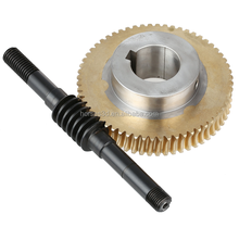5 axis customized brass worm wheel and worm gear micro worm gear