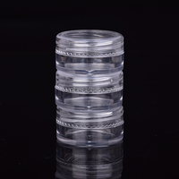 5ml transparent plastic cosmetic sample round container for sale