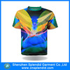 oem fashion tie-dye polyester advertsing sublimation tee shirt