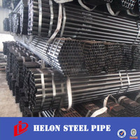 ERW ms steel tube steel pipe for building materal