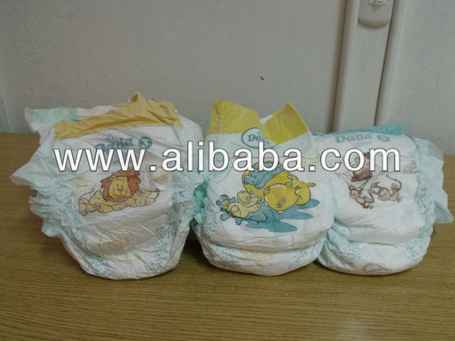 BABY NAPPIES IN BALES