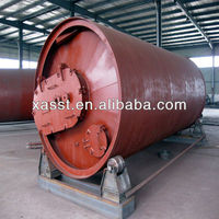 Waste tyre plastics recycling pyrolysis machine