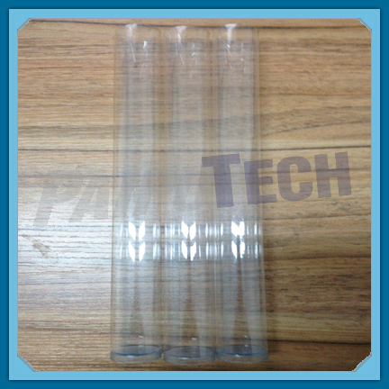 Plastic Hair Extensions Packaging Tube Clear Tube with Caps