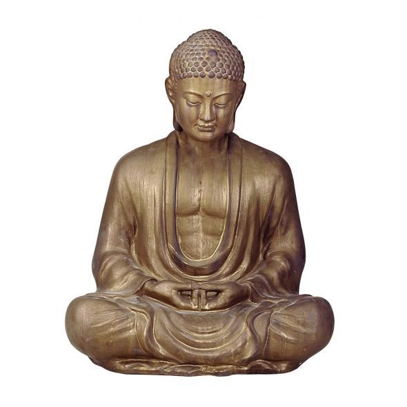 Antique bronze buddha statue for the temple