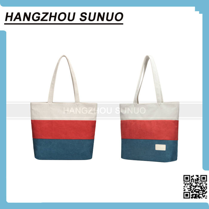 Printing Canvas beach handbag