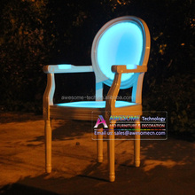 comfortable glowing armchair / dining chair with armrests