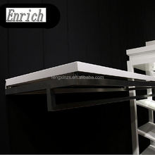 Wood shoes display wall shelf/wood picture frame display shelf for shoes